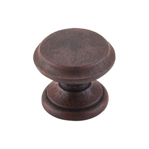 "Top Knobs Flat Top Knob 1 3/8"" - Patina Rouge"