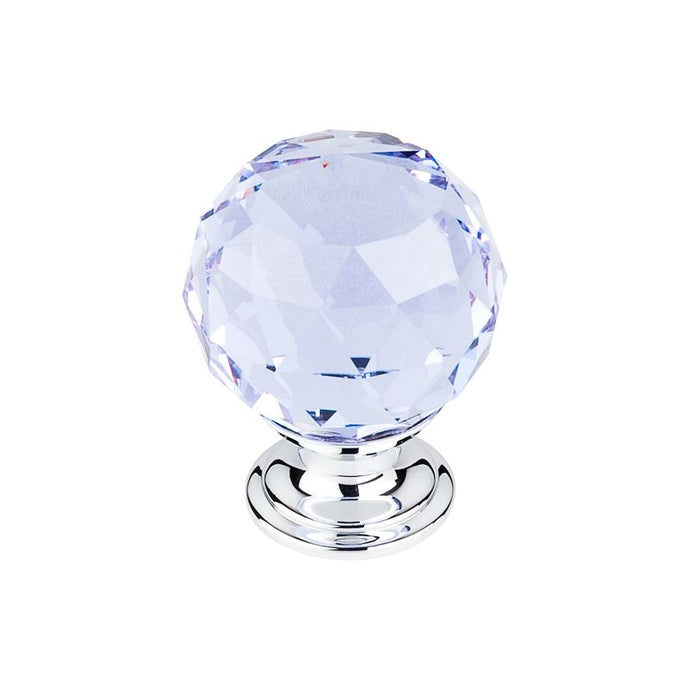 Top Knobs Light Blue Crystal Knob 1 3/8