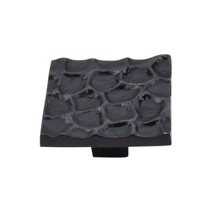 "Top Knobs Cobblestone Square Knob 1 15/16"" - Coal Black"