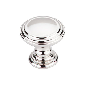 "Top Knobs Reeded Knob 1 1/2"" - Polished Nickel"