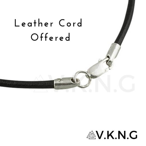 Leather cord with silver sterling clasp offered by vkng
