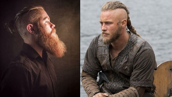 ragnar lothbrok short beard and urban viking model with long beard style