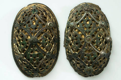9th and 10th centuries viking age brooches pins oval