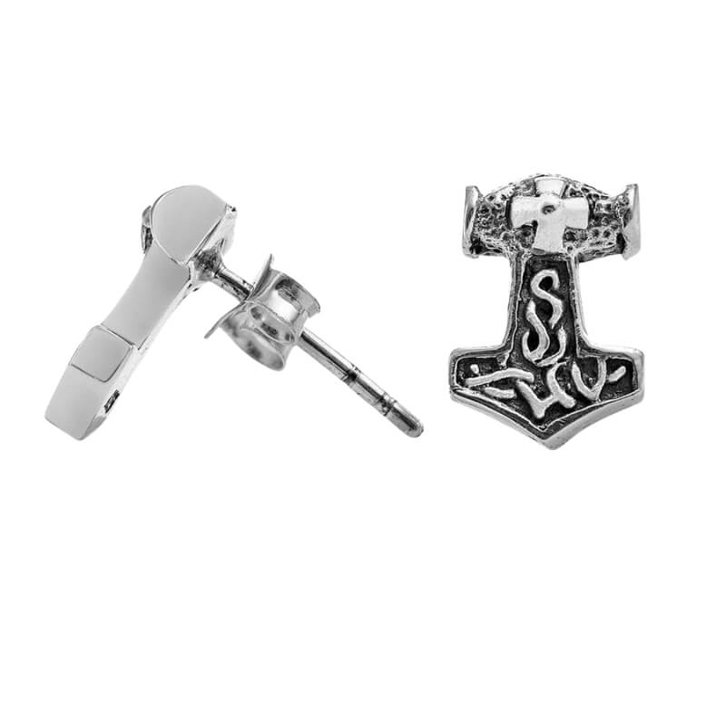 SILVER STERLING THOR HAMMER EARRINGS