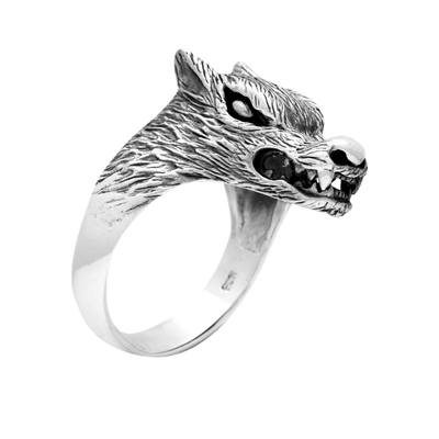 Legendary Wolf Sterling Silver Ring