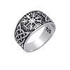 Vegvisir Norse Compasse Knotwork Sterling Silver Ring