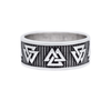 Valknut Norse Band Sterling Silver Ring