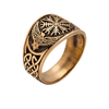 Flat Helm Of Awe Ravens Bronze Ring