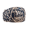 Drakkar Symbol Mammen Ornament Bronze Ring