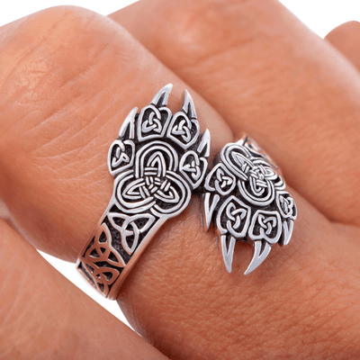 Bear Claw Aesthetic Silver Sterling Ring