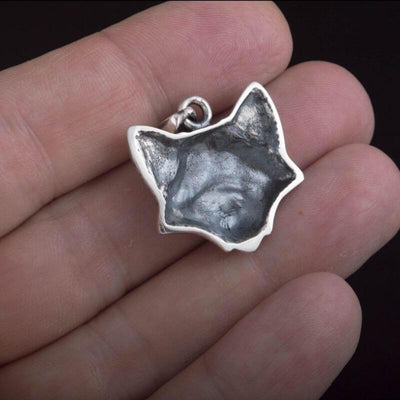 Celtic Fox Silver Sterling Pendant