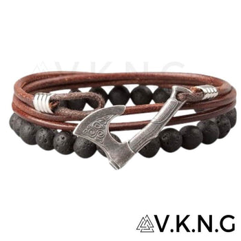 viking-Axe-Bracelet-leather-lava-stones