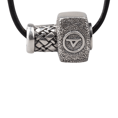 Mjolnir Thurisaz Silver Necklace