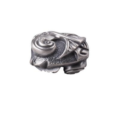 Norse Pendant Bead Hugin and Munin Sterling Silver