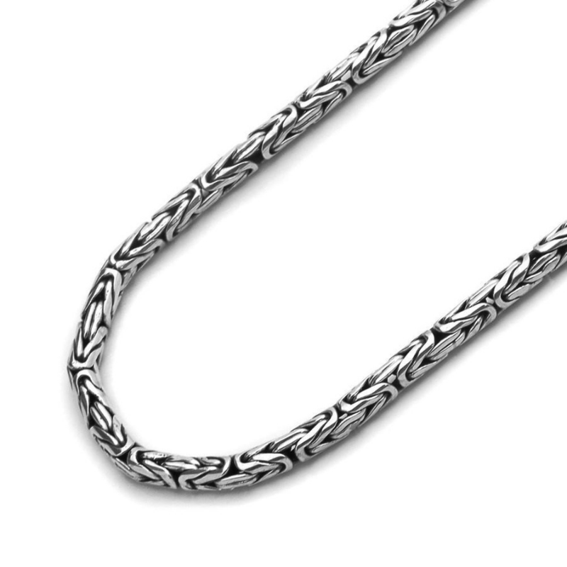 King Chain Silver Sterling