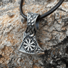 Helm of Awe Axe Sterling Silver Pendant
