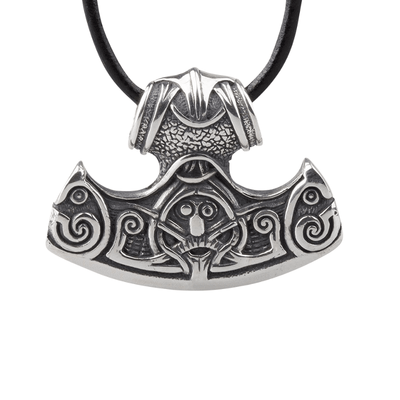 Silver Thor Hammer Helm Of Awe