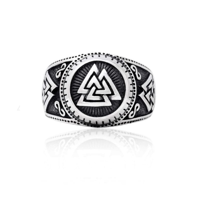 Infinite Valknut Silver Sterling Ring