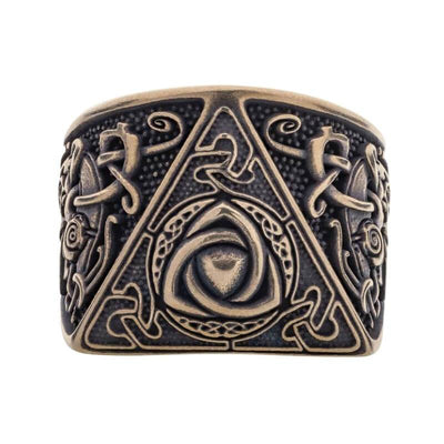 Triquetra Mammen Style Nordic Bronze Ring