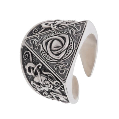 Triquetra Mammen Style Nordic Silver Sterling Ring