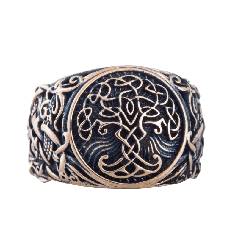 Yggdrasil Symbol Mammen Style Bronze Ring