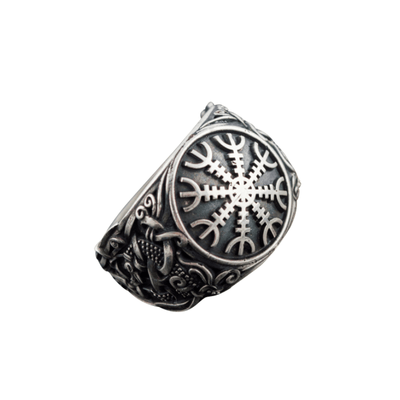 Helm Of Awe Mammen Style Sterling Silver Ring