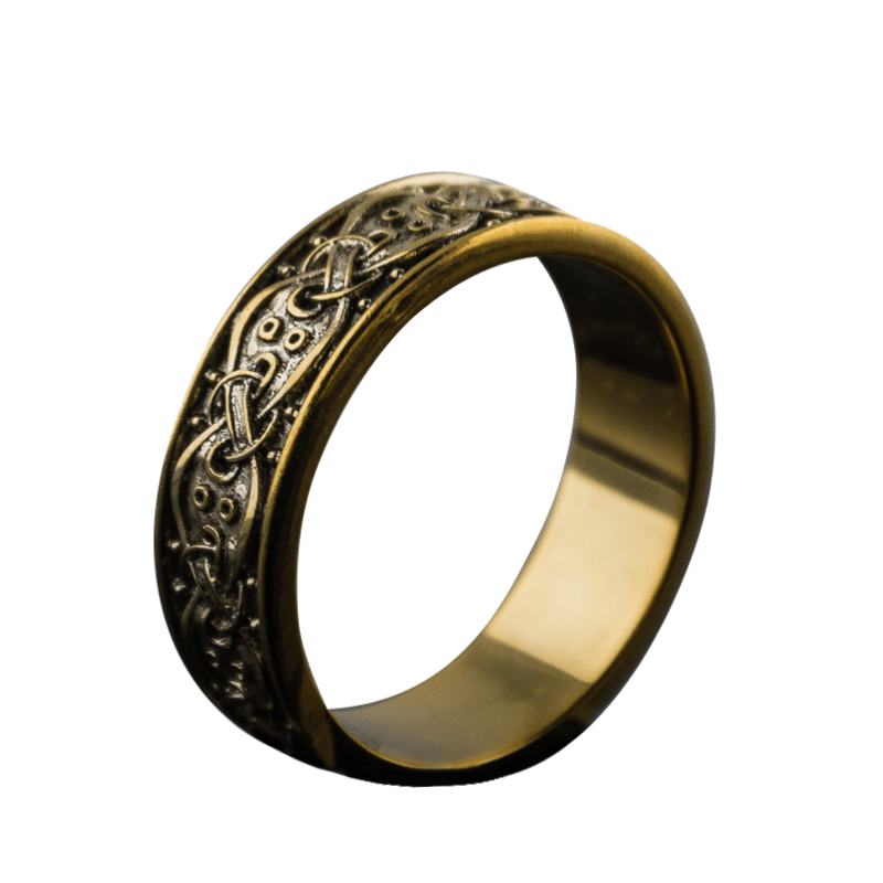 Scandinavian Ornament Gold Ring