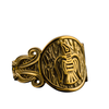 Raven Ornament Norse Gold Ring