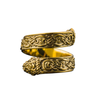 Ouroboros Ornament Norse Gold Ring