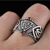Valknut Symbol Norse Ornament Sterling Silver Ring