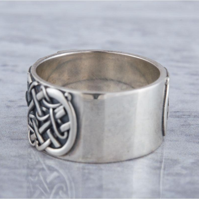 Sowelu Rune Scandinavian Ornament Sterling Silver Ring