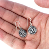 Silver Sterling Triskel Earrings