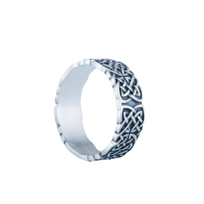 Norse Ornament Sterling Silver Unique Ring