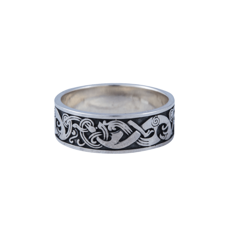 Norse Ornament Viking Sterling Silver Ring