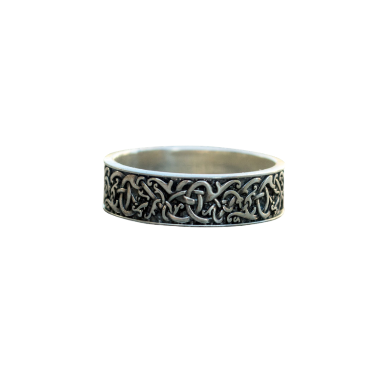 Urnes Ornament Sterling Silver Ring