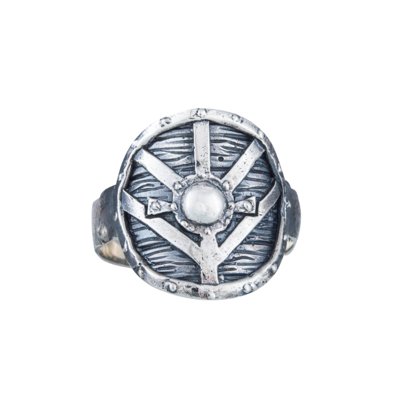 Lagertha's Shield Sterling Silver Ring