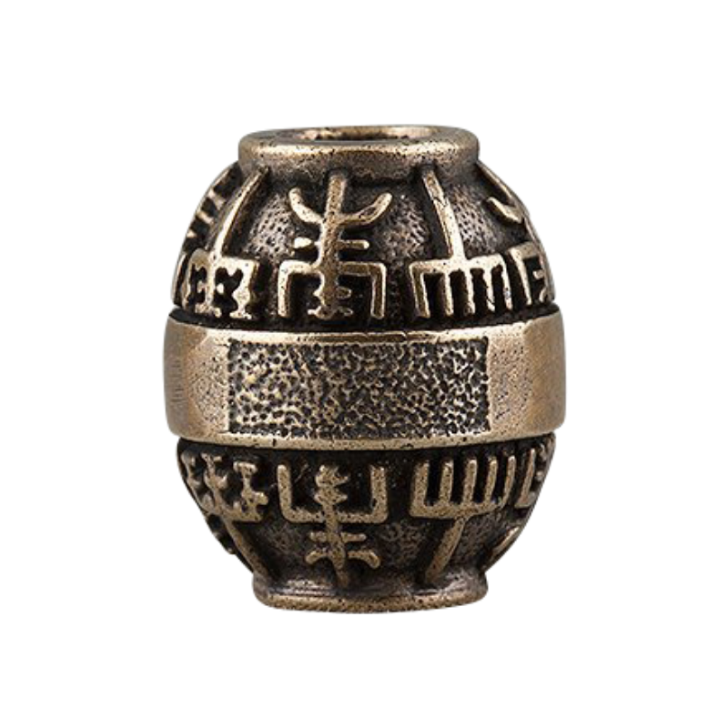 Bronze Viking Beads Vegvisir