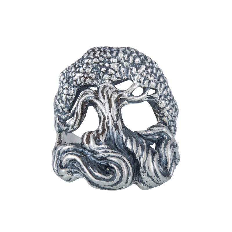 Yggdrasil World Tree Sterling Silver Ring