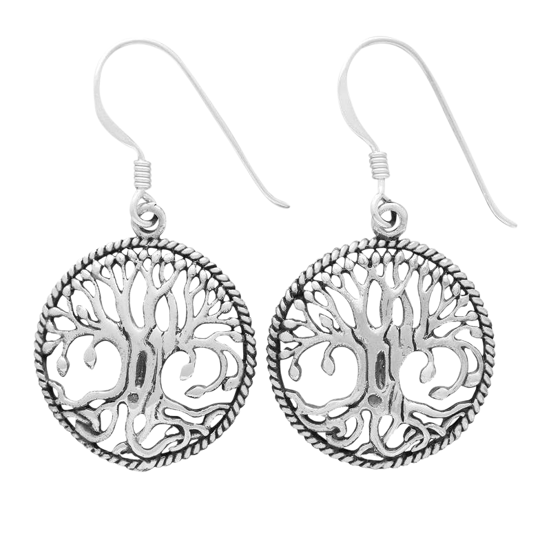Silver Sterling Yggdrasil Earrings