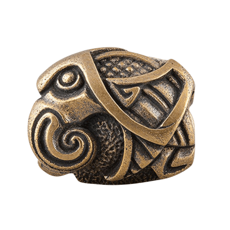 Bronze Viking Beads Raven