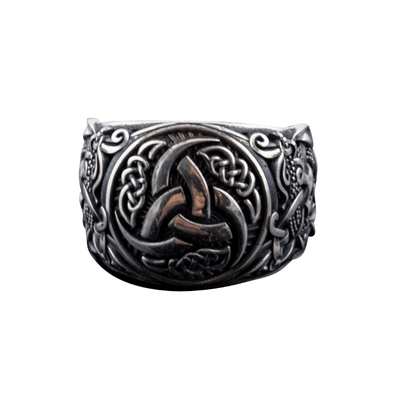 Odin's Horns Mammen Style Sterling Silver Ring
