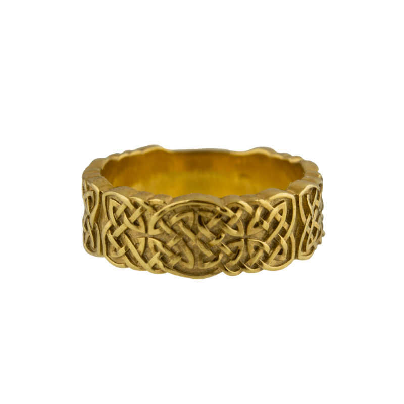 Norse Ornament Gold Ring