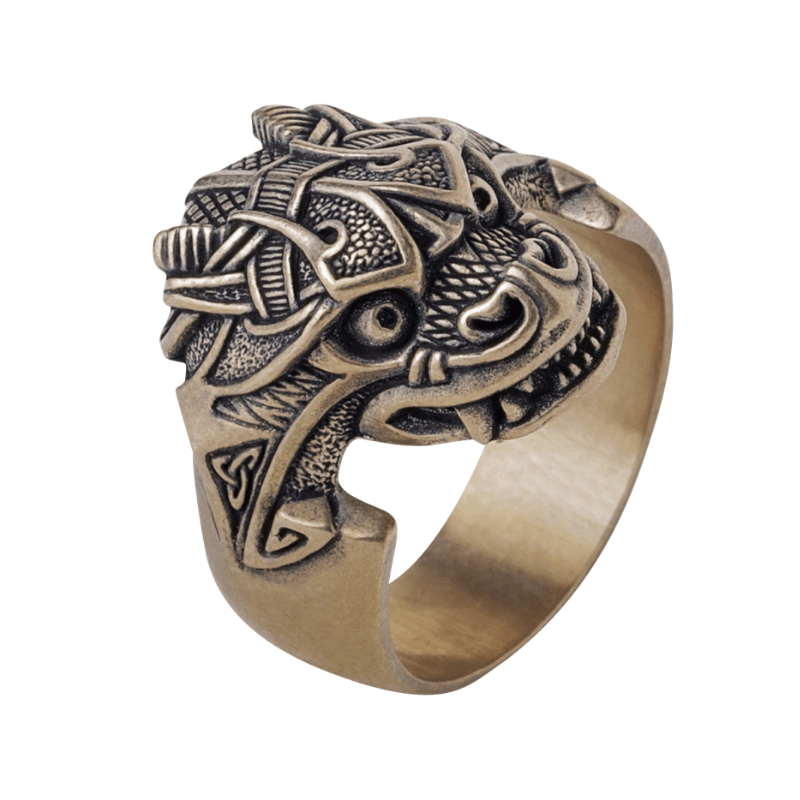 Jörmungandr Midgard Serpent Bronze Ring