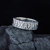 Elder Futhark Runes Sterling Silver Ring