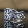Helm of Awe Sterling Silver Ring