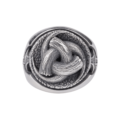 Odin's Horns Silver Ring