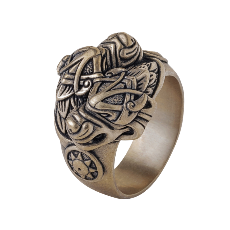 Wolf Viking Ring Hati and Skoll