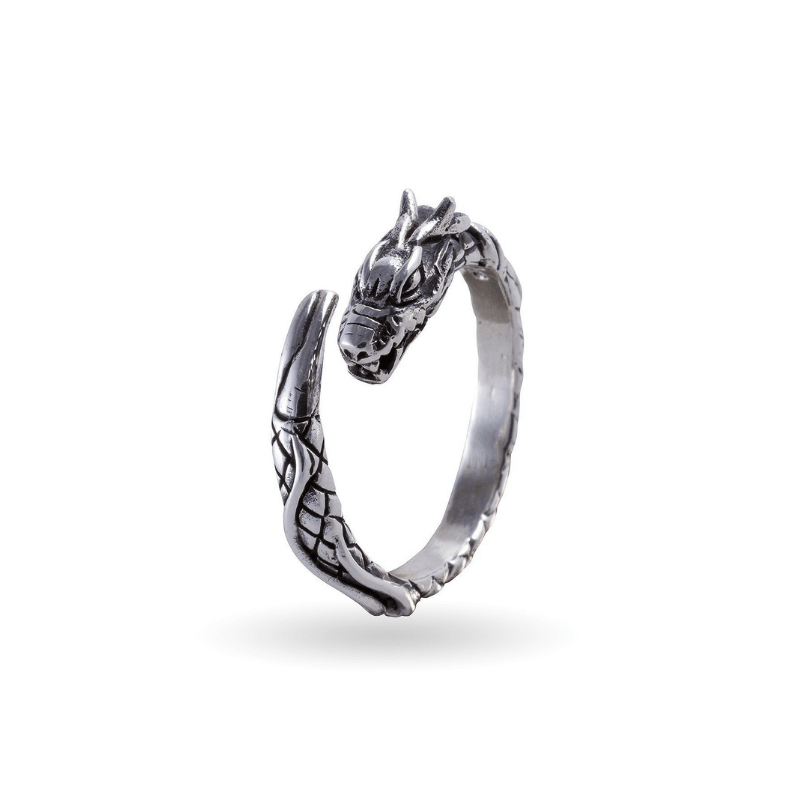 Midgard Serpent Silver Ring