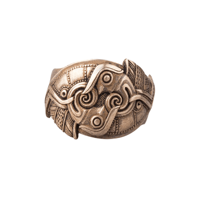 Odin's ravens Bronze Ring