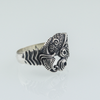 Designed Raven Sterling Silver Ring lateral